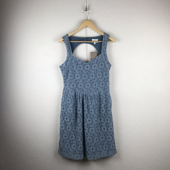 Anthropologie Dresses & Skirts - Anthro l Deletta Retro Peek-a-Boo Blue Lace Dress